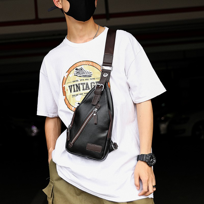 Chest bag men's shoulder bag Korean version of the Messenger bag outdoor bag diagonal men's bag back