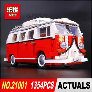 Lego Techinc Car 10220 Lepin 21001 Creator Volkswagen 1T Camper Van ô tô bán tài cắm trại Quà cho các bé trai lego xe
