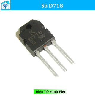 Sò âm thanh D718 TO-247 TRANS NPN 8A 120V Tiện Lợi