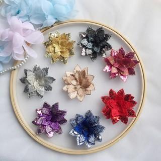 Đầm Cưới Phối Ren Thêu Hoa Đính Kim Sa 8 Màu Sắc Tùy Chọn (7cm)