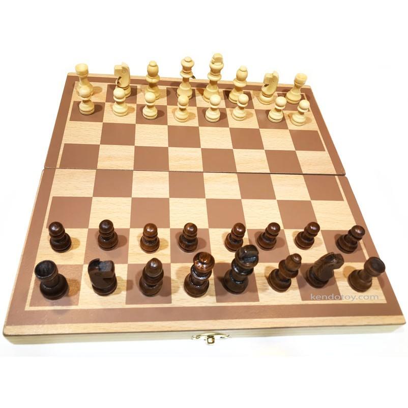 [Mã TOYJAN hoàn 20K xu đơn 50K] Đồ chơi cờ vua bằng gỗ có hộp đựng | Đồ chơi thông minh cho cả nhà