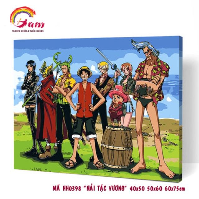 Tranh sơn dầu tự tô màu số hoá Anime - Mã HH0398 Vua hải tặc