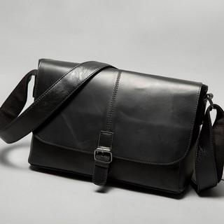[CHÍNH HÃNG] Túi đeo chéo da 4LI lịch lãm DN297 (đen – nâu) [SALE OFF 50%]