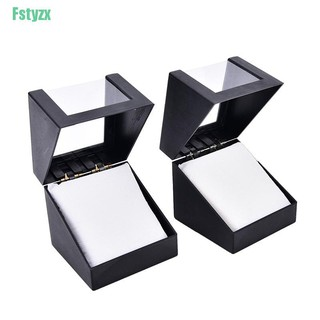 fstyzx 1pc wrist watch box 78 78mm plastic earring display storage holder jewelry case thumbnail
