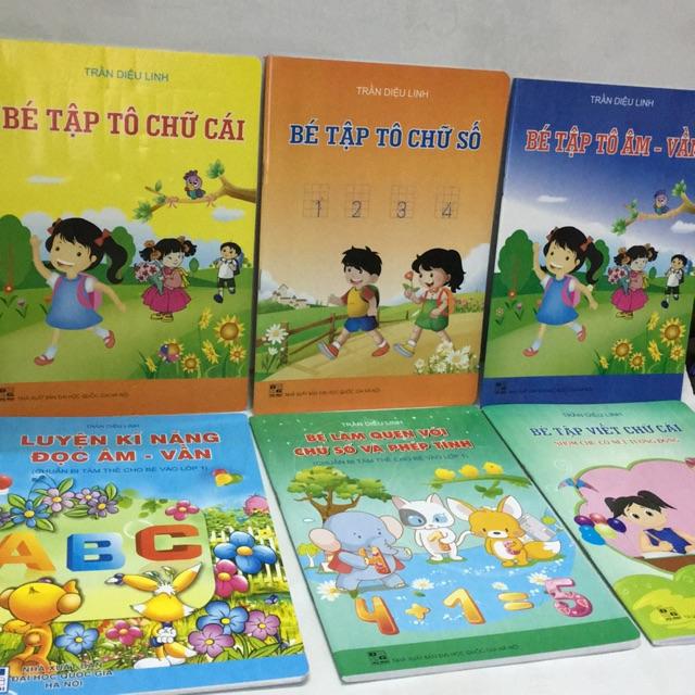 Sách - combo 6 cuốn sách cho bé tập tô cho bé chuẩn bị vào lớp 1 - Trần diệu linh