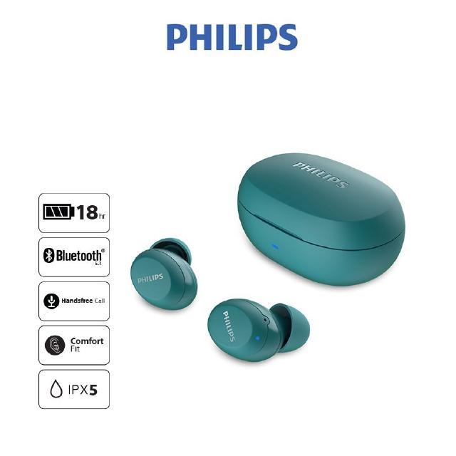 Tai nghe Philips Bluetooth Có Bass TAT1235BL/97 - Màu xanh - Hàng Chính Hãng