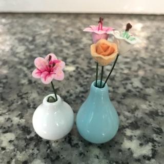 Bộ 2 bình sứ trơn (không gồm hoa)
