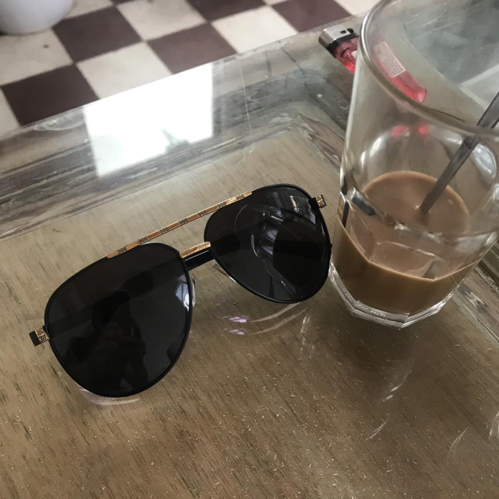 [FreeShip-Siêu rẻ] Kính nam thời trang phân cực LV form bầu