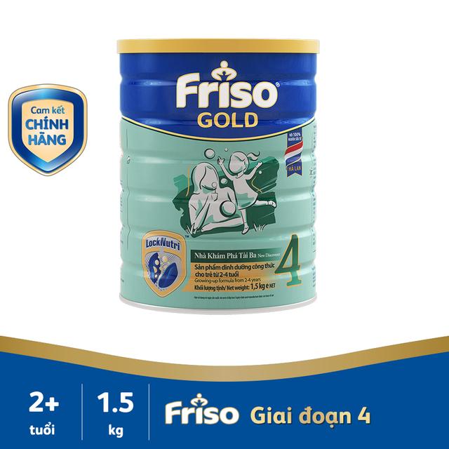 [Nhập Mã MKBMFRI38 Giảm 38K]  Sữa bột FRISO GOLD 4 1500G