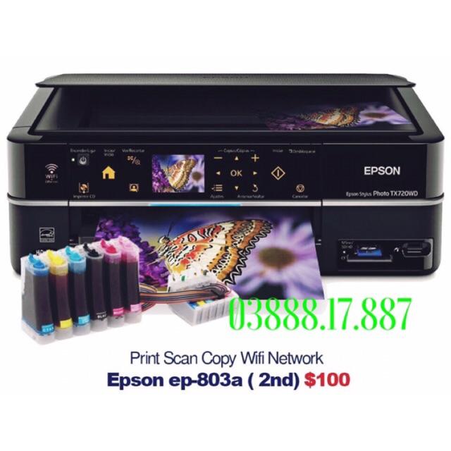Máy in Epson 803a gắn hệ thống mực dầu pigment UV, in ảnh không phai màu