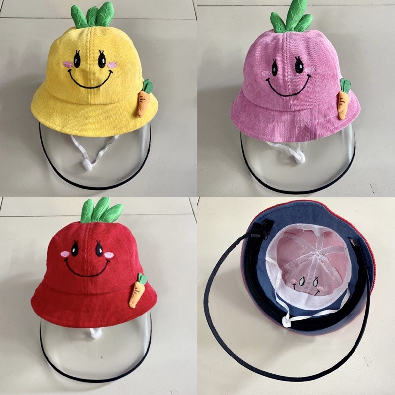 Mũ chống dịch kèm kính cho bé 1-3 tuổi