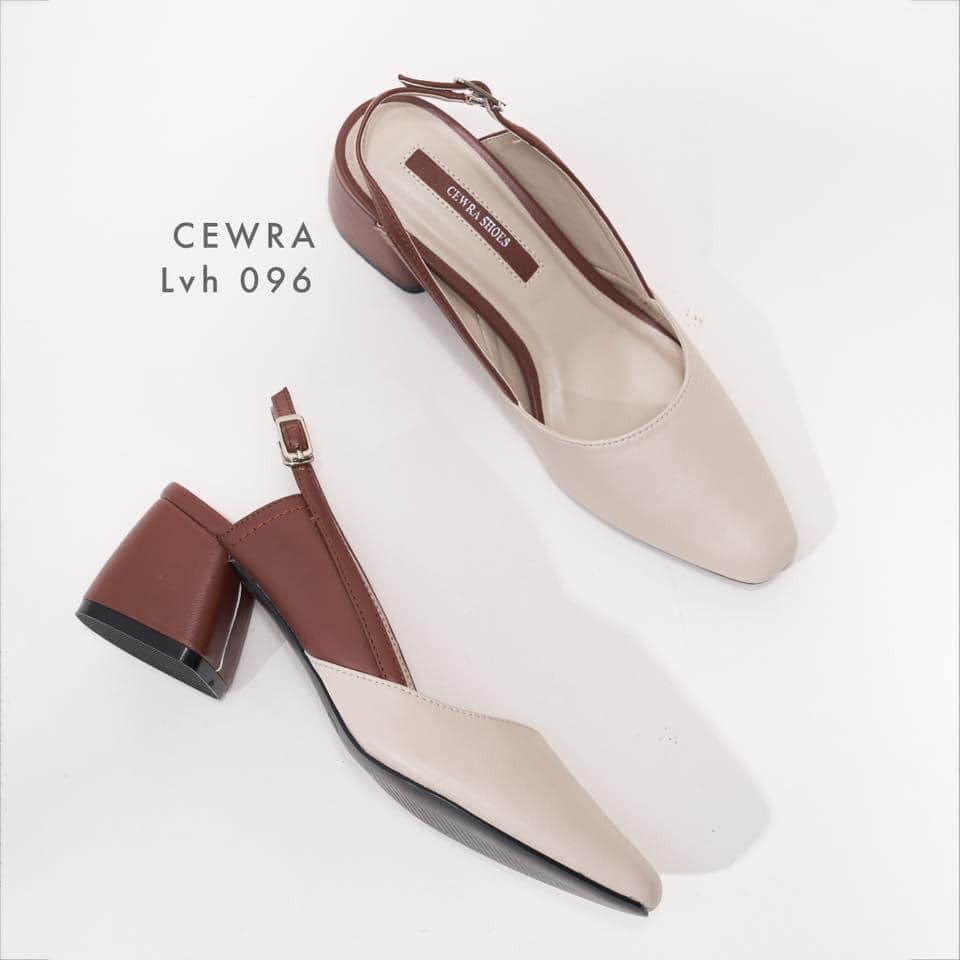 Giày cao gót 5 phân đế vuông Cewra C