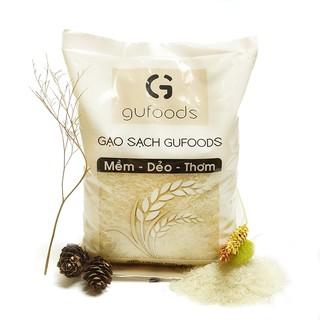 Yêu Thích[Mã GROMS25 hoàn 10% đơn 199K] Gạo sạch GUfoods (dẻo - mềm - thơm) (1kg)