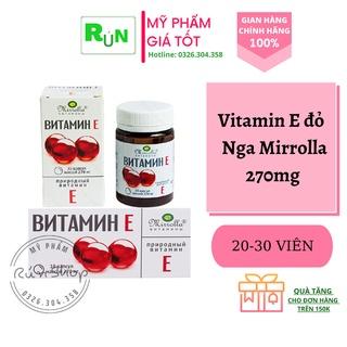 [CHÍNH HÃNG 100%] Vitamin E đỏ Nga 270mg - 2 Loại Hộp và Vỉ - Loại vitamin bất cứ chị em nào cũng cần bổ sung ngay thumbnail