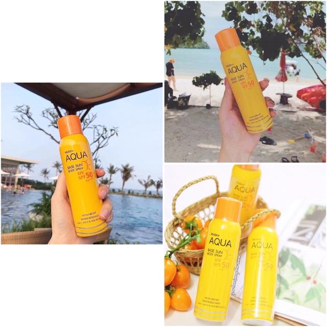Xịt chống nắng Mistine Aqua Base Sun Body Spray UV SPF50 - 3481142 , 1318644476 , 322_1318644476 , 180000 , Xit-chong-nang-Mistine-Aqua-Base-Sun-Body-Spray-UV-SPF50-322_1318644476 , shopee.vn , Xịt chống nắng Mistine Aqua Base Sun Body Spray UV SPF50