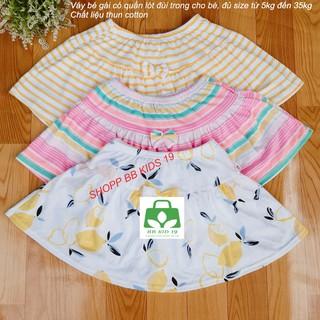 Váy quần bé gái (combo 3 cái)-vải xuất khẩu mịn đẹp nhiều màu