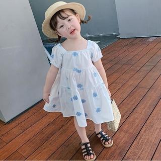 Váy công chúa ngắn tay thanh tú cho mùa hè 2021