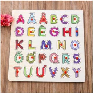 (Bằng gỗ) Bảng chữ cái tiếng việt có núm VINA_TOY