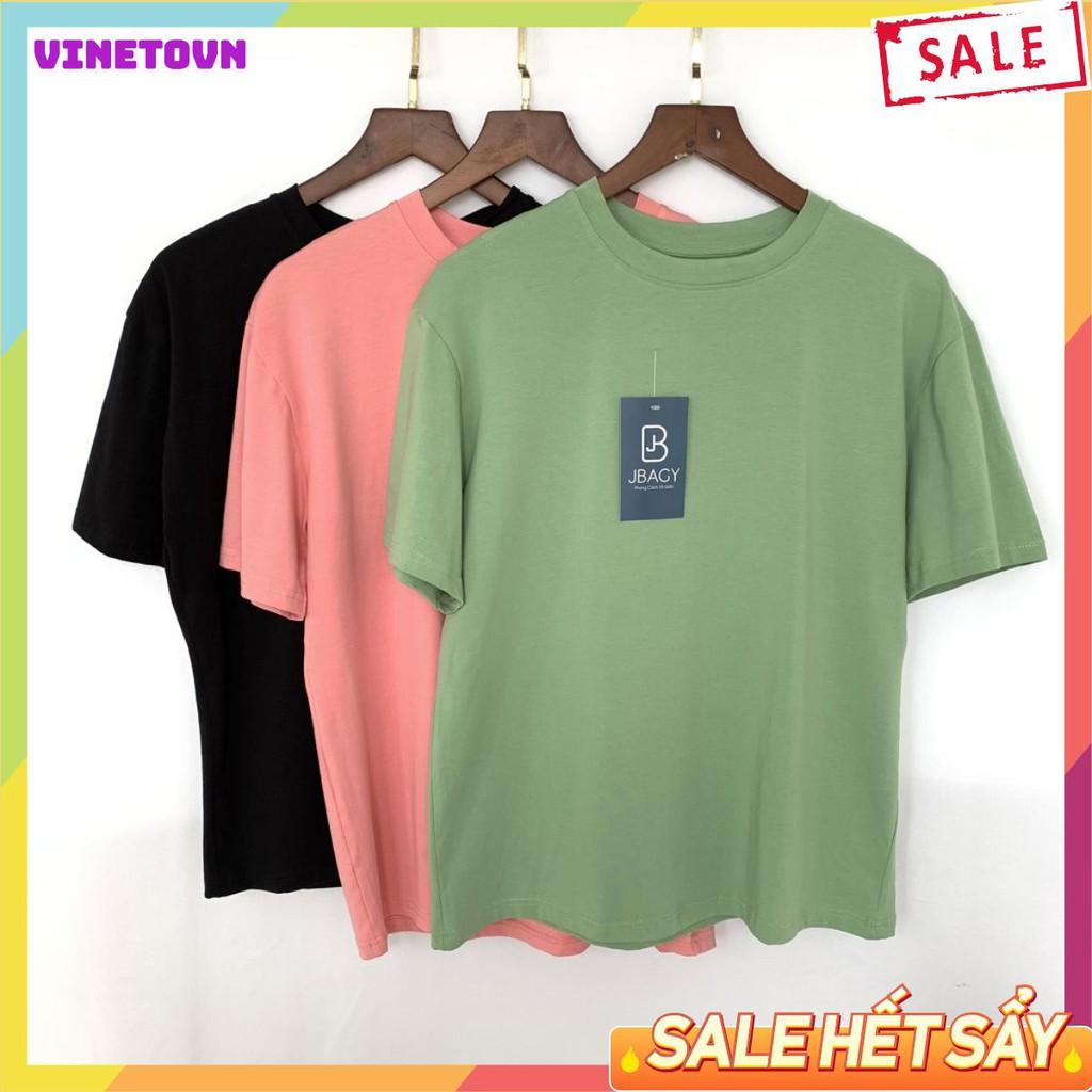 Áo thun nam cổ tròn tay lỡ vải Cotton Compact phiên bản Premium - Vinetovn Shop