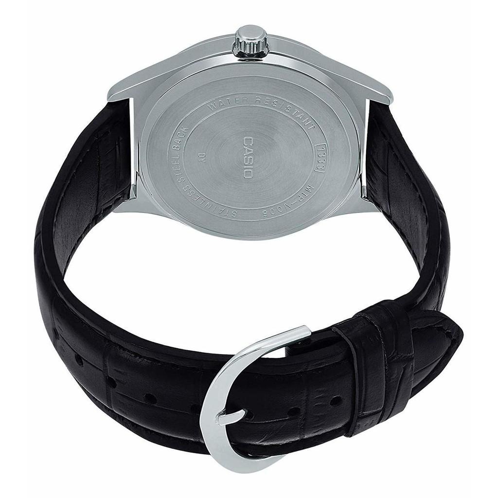 Đồng hồ nam dây da chính hãng CASIO STANDARD MTP-V006L-7BUDF