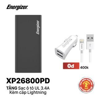 Sạc dự phòng Energizer 26,800mAh /3.7V Li -Ion - XP26800PD