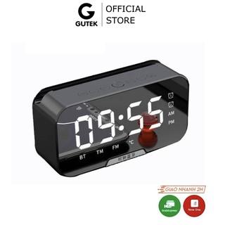 Loa bluetooth không dây kiêm đồng hồ báo thức Gutek G11 màn hình tráng gương