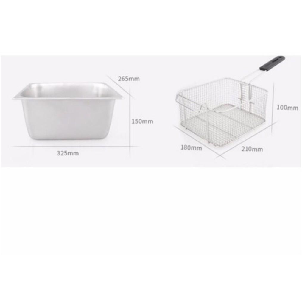 Bộ Đôi Bếp Chiên Nhúng Điện + Máy Cắt Khoai Tây 2 Cỡ Dao.
