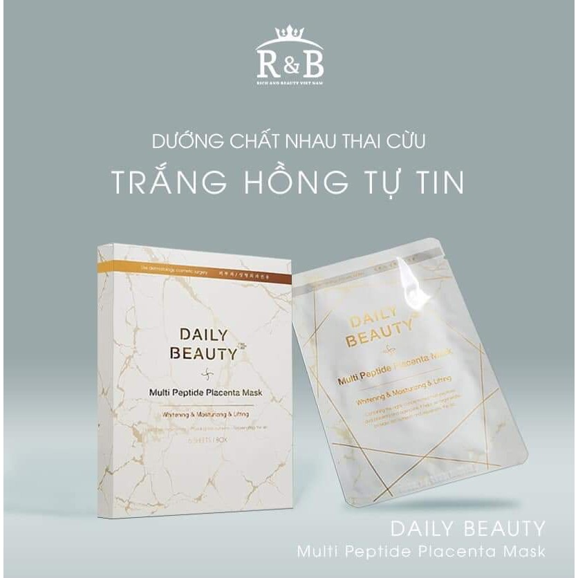 Mặt Nạ Tế Bào Gốc Nhau Thai Cừu Daily Beauty Multi Peptide Placenta Mask