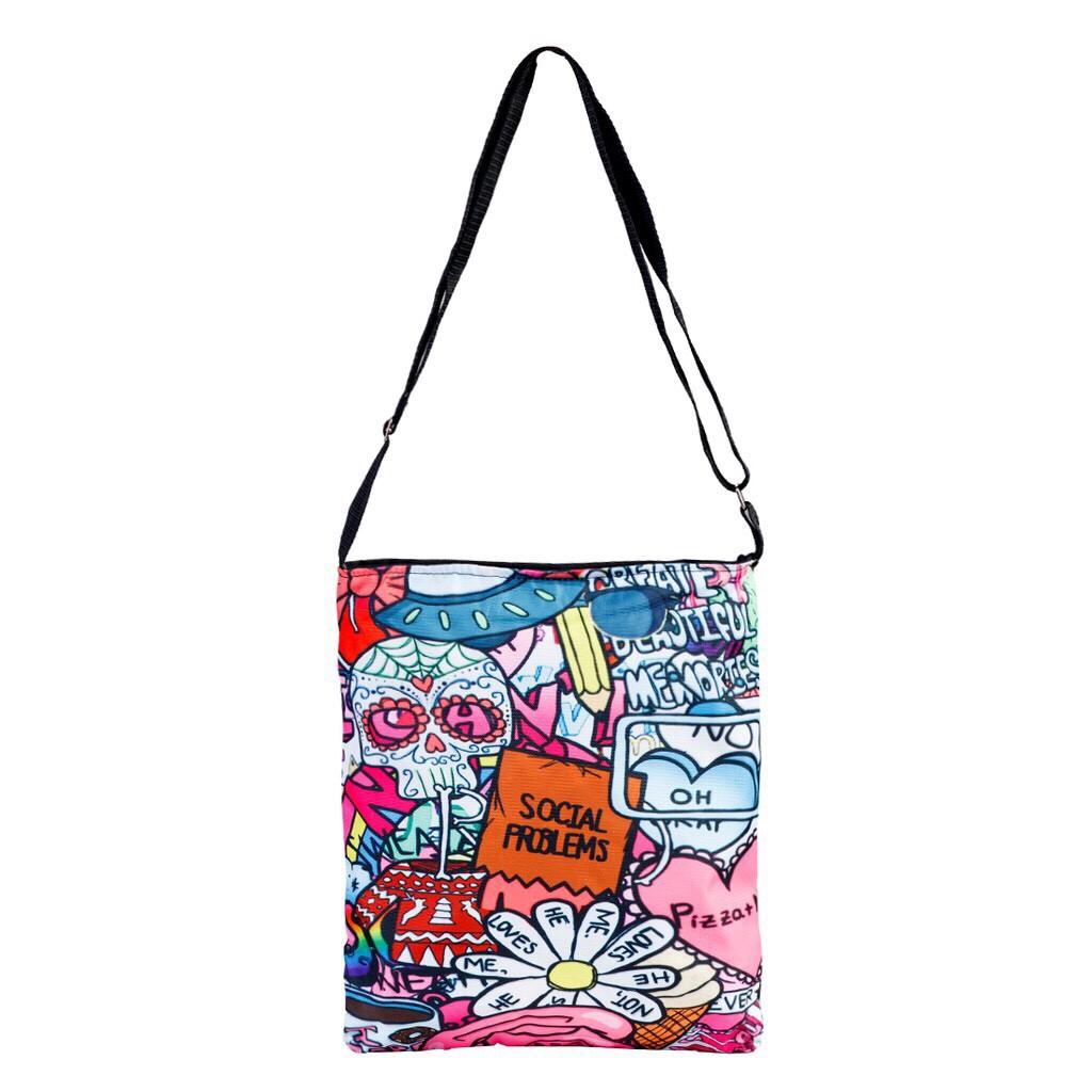 Túi vải tote nữ Canvas hình hoa 35268
