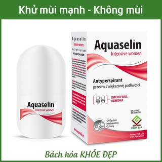 Aquaselin intensive women 20ml Lăn khử mùi không mùi cho nữ mồ hôi nách nhiều thumbnail