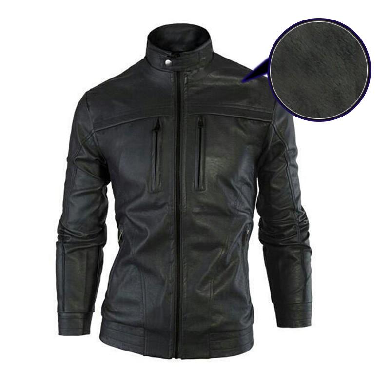 áo khoác da lót lông cao cấp AKD12 (đen)