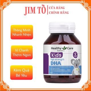 (Hiệu Qủa 100%) Viên uống bổ sung DHA cho Bé từ 4 tháng tuổi Healthy Care Kid's High DHA 60 viên của Úc