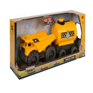 Bộ đồ chơi xe mô hình CAT xe ben kéo thùng nước