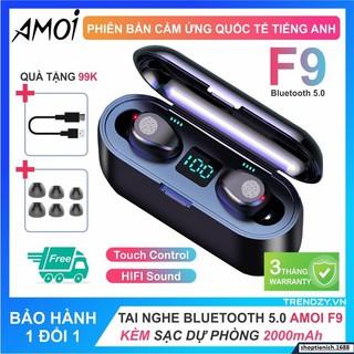 Tai Nghe Nhạc Bluetooth AMOI F9 Bản Nút Cảm Ưng Bluetooth 5.0