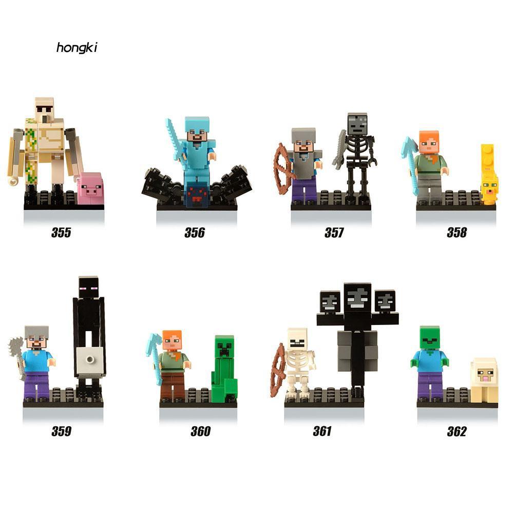 【HKM1】My World Intelligent Building Block Toys Kids Mini Scene Assembling Figure Gift