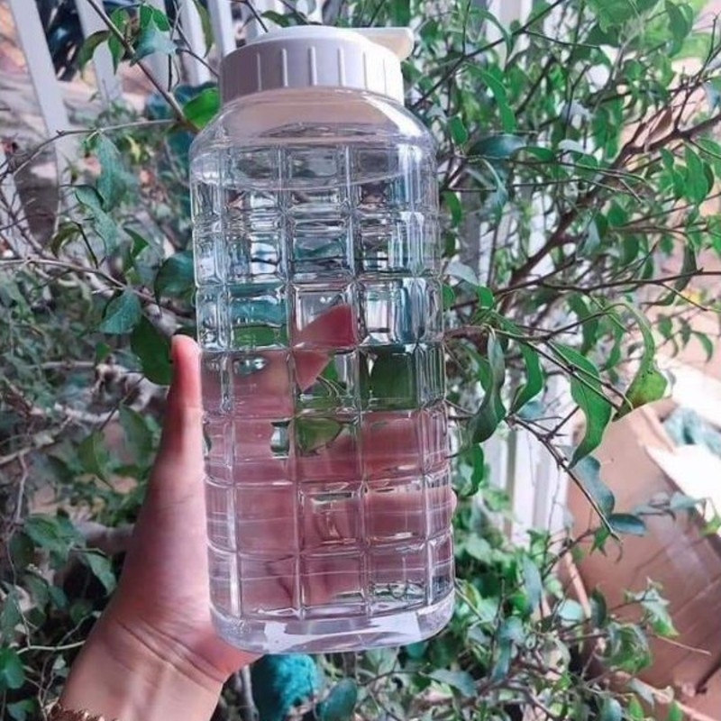Bình đựng nước Lock and Lock 1000ml màu trắng,bình nhựa đựng nước cao cấp