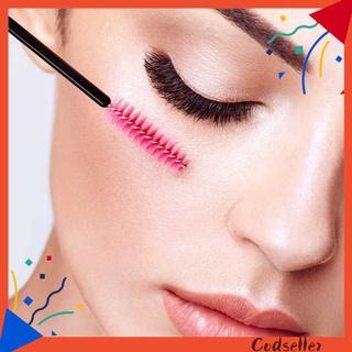 CODseller 50Pcs/Bag Eyelash Tool Easy to Use Disposable Plastic Eyebrow Cosmestic Brush Wand for Daily Use