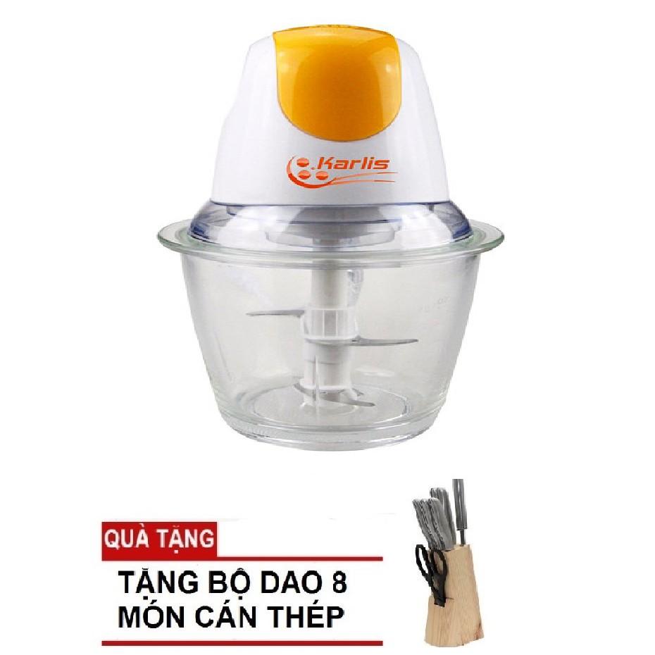 Máy Xay Thịt Đa Năng Karlis Tặng Kèm Bộ Dao 8 Món Cán Thép