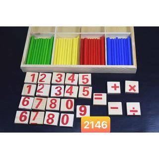 Bộ đồ chơi toán học bằng gỗ (Mã 2146)