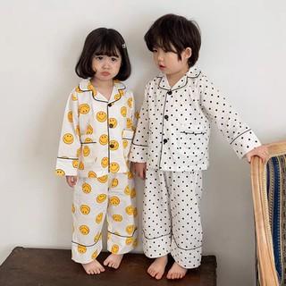 Bộ Đồ Ngủ Pijama Dài Tay Họa Tiết Dễ Thương Cho Bé [B23] thumbnail
