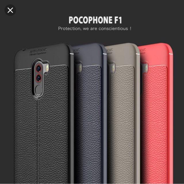 Ốp lưng dẻo Xiaomi Pocophone F1 vân da chống sốc Auto focus