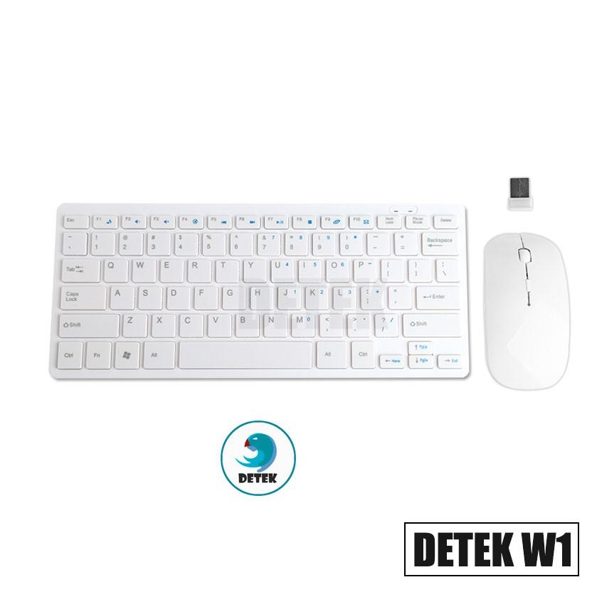 Combo bàn phím và chuột không dây thời trang Detek W1 (Trắng) - 3080261 , 691040284 , 322_691040284 , 249000 , Combo-ban-phim-va-chuot-khong-day-thoi-trang-Detek-W1-Trang-322_691040284 , shopee.vn , Combo bàn phím và chuột không dây thời trang Detek W1 (Trắng)