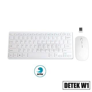 Combo bàn phím và chuột không dây thời trang Detek W1 (Trắng) thumbnail