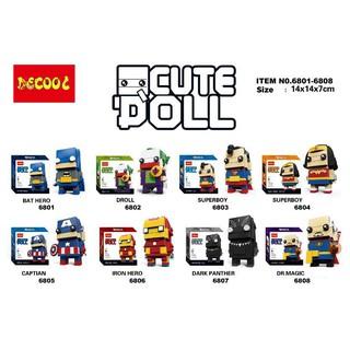 Bộ lắp ráp Lego Brickheadz Hero DECOOL 6801-6808
