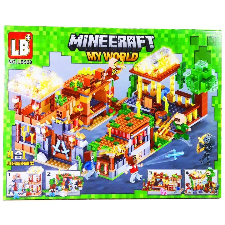 Bộ LEGO Ninjago Xếp Hình Mineecraft My World Xây Dựng Nông Trại. Gồm 256 Chi Tiết. Lego Ninjago Lắp Ráp...