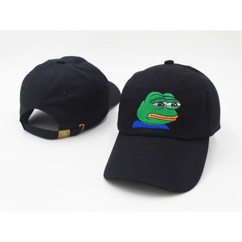 Men Snapback Baseball Cap Sad Frog Embroidery Hip Hop Hat