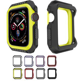 Apple Watch 3 2 1 42MM 38MM Full Cover Protection Silicone+PC Hard Armor Case iWatch 4 5 40MM 44MM Watch Frame Full Protective Bumper Cover Case Ốp Bảo Vệ Mặt Đồng Hồ Thông Minh