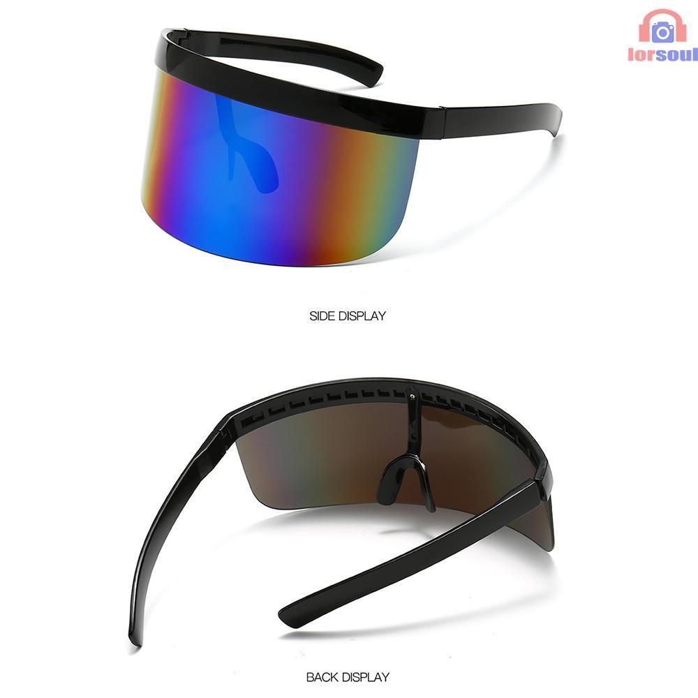 Half Face Sun Protection Goggles Large Mirror Sun Glasses Half Face Shield Guard Protector Sun Glasses UV Outdoor Sports Glasses