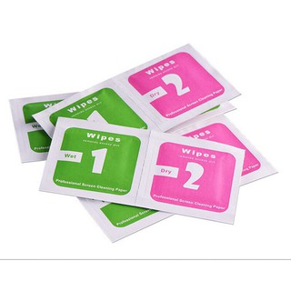 Giấy khăn lau kính 1 bộ gồm 1 giấy ướt Wet và 1 giấy khô Dry ( Lau mặt điện thoại , ống kính máy ảnh ) ML00803 thumbnail