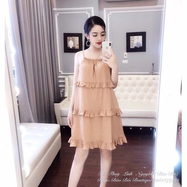 Váy 2 dây bèo tầng